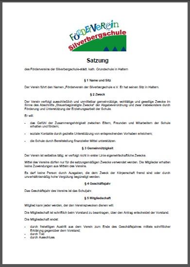 Satzung Förderverein